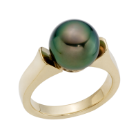 14K YELLOW GOLD RING WITH TAHITIAN PEARL