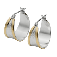 STERLING SILVER AND GOLD HOOP EARRINGS