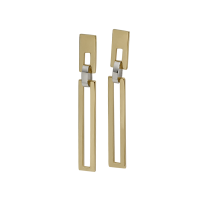 14K YELLOW AND WHITE GOLD PENDANT EARRINGS