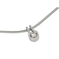 14KT WHITE GOLD PENDANT WITH DIAMOND